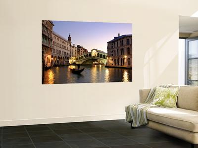 Rialto Bridge, Grand Canal, Venice, Italy Posters by Alan Copson