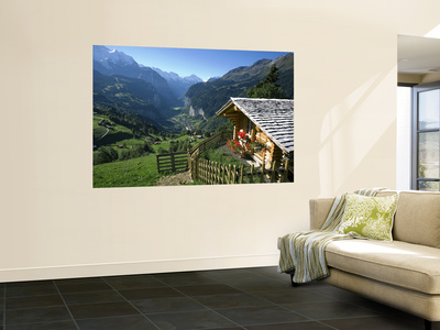 Alpine Cabin, Wengen and Lauterbrunnen Valley, Berner Oberland, Switzerland Posters by Doug Pearson