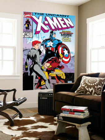 Uncanny X-Men No.268 Cover: Black Widow, Wolverine and Captain America Poster by Jim Lee