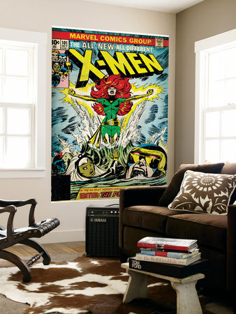 Marvel Comics Retro: The X-Men Comic Book Cover #101, Phoenix, Storm, Nightcrawler, Cyclops (aged) Laminated Oversized Art