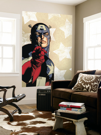 New Avengers No.61 Cover: Captain America Prints by Stuart Immonen