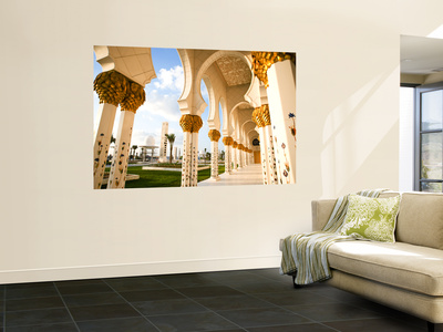 Exterior Archway of Sheikh Zayed Bin Sultan Al Nahyan Mosque Giant Art Print
