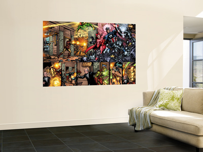 Giant-Size Avengers No.1 Group: Captain America, Scarlet Witch and Vision Prints by Nelson Decastro