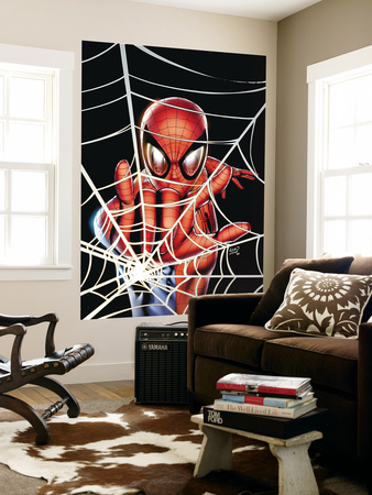 Spider-Man: Brand New Day - Extra!! No.1 Cover: Spider-Man Charging Giant Art Print