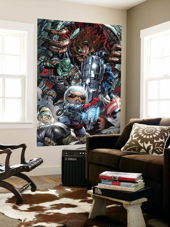 War of Kings No.3 Group: Rocket Raccoon, Drax, Major Victory and Groot Prints by Paul Pelletier