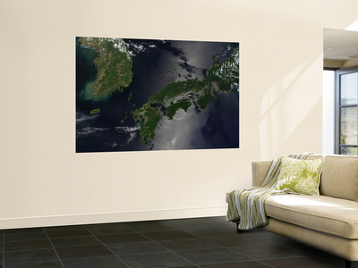 North and South Korea (Upper Left) as Well as the Japanese Island of Shikoku Prints