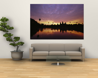 Angkor Wat Temple at Twilight Posters by Steve Raymer