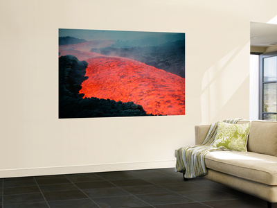 Lava Flow During Eruption of Mount Etna Volcano, Sicily, Italy Posters af Stocktrek Images,