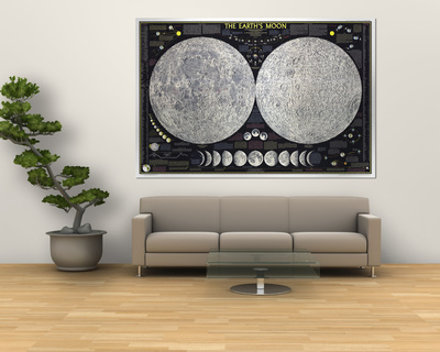 1969 Earths Moon Map Prints by  National Geographic Maps
