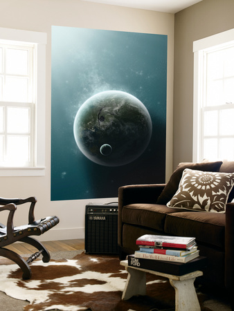 An Earth-Like Planet Illuminated by a Nearby White Dwarf Posters by  Stocktrek Images