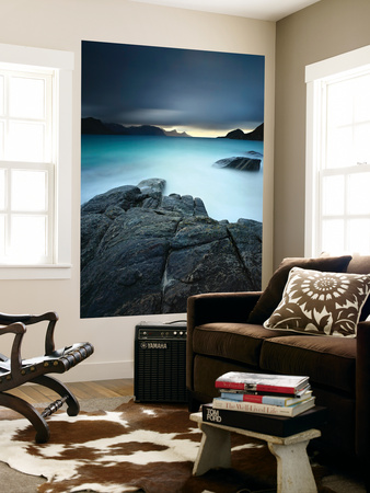 A Long Exposure Scene at Haukland Beach in Lofoten, Norway Posters by  Stocktrek Images