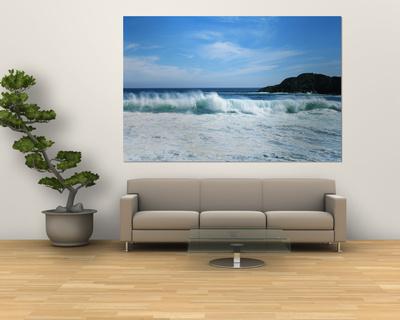 Crashing Waves at Isla Navadad Resort in Manzanillo, Colima, Mexico Posters