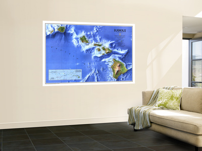 1995 Hawaii Map Posters af  National Geographic Maps