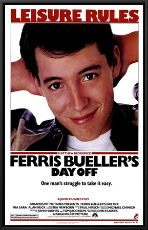 Ferris Bueller's Day Off Framed Canvas Print