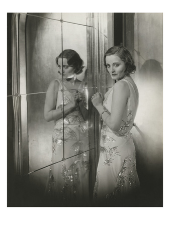 Vanity Fair - November 1931 - Tallulah Bankhead in Reflection Photographic Print by Cecil Beaton