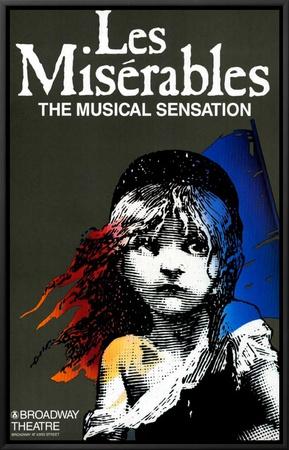Les Miserables (Broadway) Framed Canvas Print