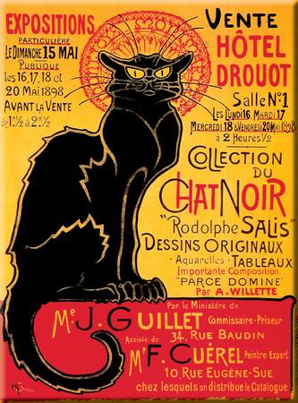 Chat Noir Drouot Blechschild