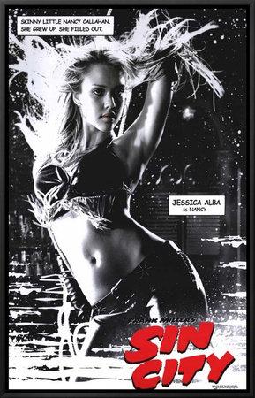 Sin City Framed Canvas Print