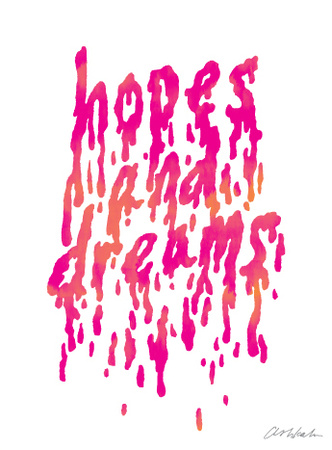 Hope and Dreams (pink) Art Print