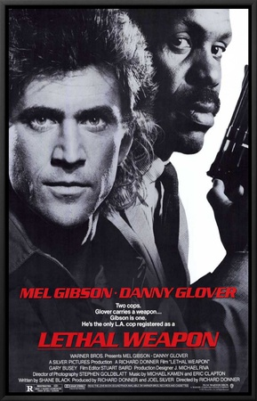 Lethal Weapon Framed Canvas Print