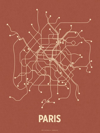 Paris (Brick Red & Tan) Serigraph