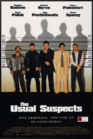 Usual Suspects Framed Canvas Print