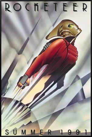 The Rocketeer Framed Canvas Print