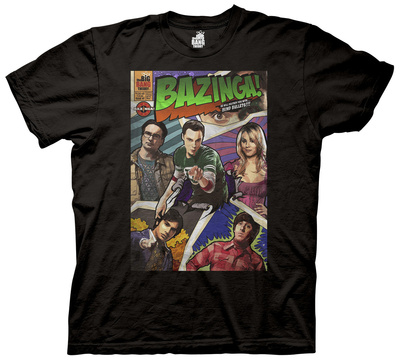 The Big Bang Theory – Bazinga Comic Book Cover T-shirts