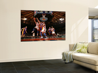 New York Knicks v Los Angeles Lakers, New York, NY, Feb 10: Jeremy Lin Reproduction murale géante