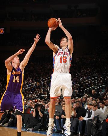 New York Knicks v Los Angeles Lakers, New York, NY, Feb 10: Steve Novak, Troy Murphy Photo