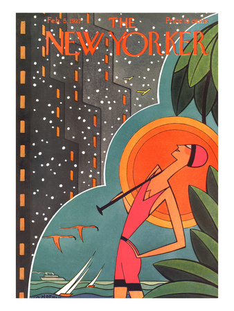 The New Yorker Cover - February 5, 1927 Giclée-tryk af H.O. Hofman