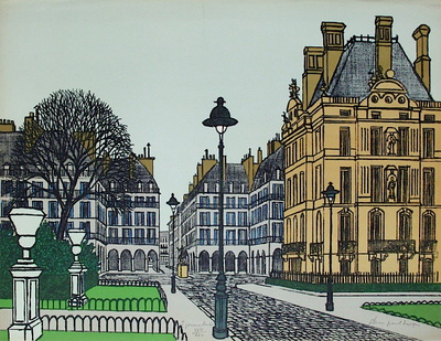 Paris, Coin Des Tuileries Collectable Print