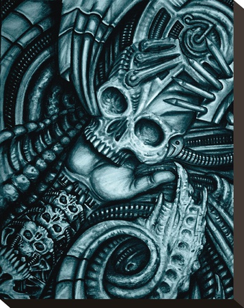 Alien Bio Stretched Canvas Print by  Roman (Artist)