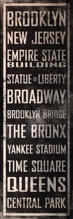 NY Famous Places Vintage Blikskilt