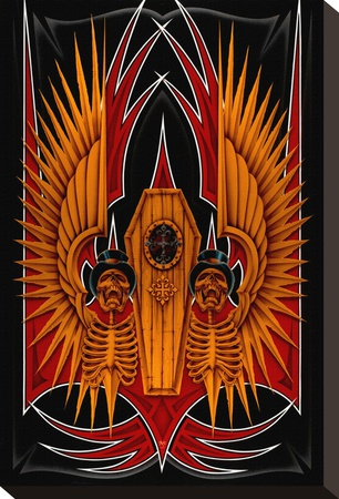 Coffin Stretched Canvas Print by Dan Scholz