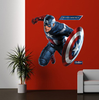 Captain America - The Avengers Autocollant mural