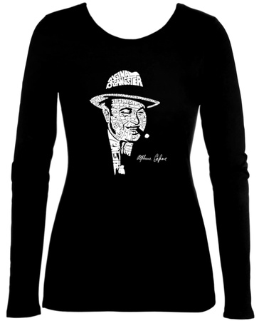 Juniors: Long Sleeve - Al Capone - Original Gangster T-Shirt
