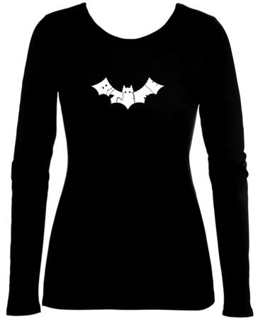 Juniors: Long Sleeve - Bite Me Bat Womens Long Sleeves