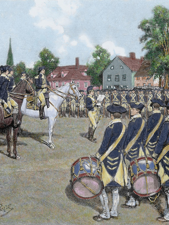 General Washington's Army in New York on July 9, 1776 by Howard Pyle, 1892 Photographic Print by  Prisma Archivo