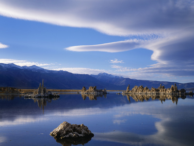 Lake Reflections in South Tufa Area, Mono Lake, California, Usa Photographic Print