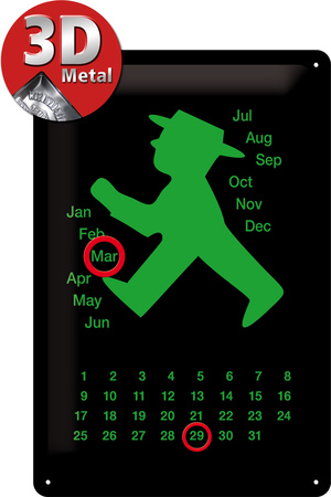 Ampelmann grün Kalender Tin Sign