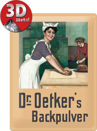 Dr. Oetker Bäckerin Tin Sign