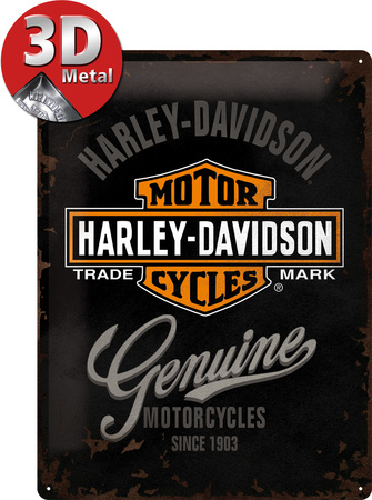 Harley-Davidson Genuine Logo Tin Sign