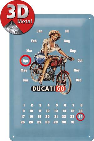 ducati pin up kalender emaille bord. Black Bedroom Furniture Sets. Home Design Ideas