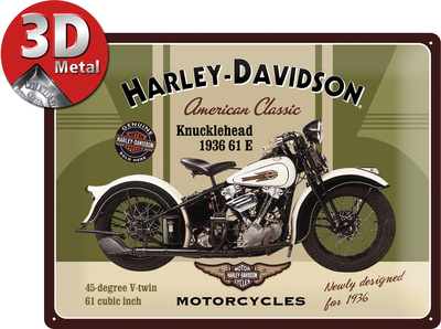 Harley-Davidson Knucklehead Tin Sign