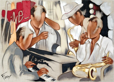 Blues in Live Prints by Pierre Farel