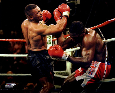 Mike Tyson 1996 boxing sports action photo poster print