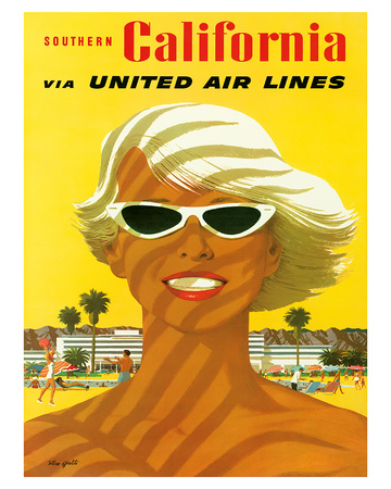 Fly United Air Lines: Southern California, c.1955 Giclee Print by Stan Galli