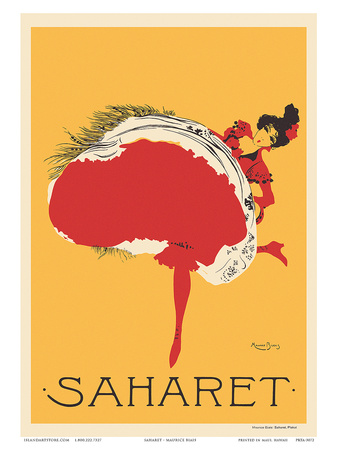 Saharet - Dance Performance Advertisement, c.1902 Kunstdruck