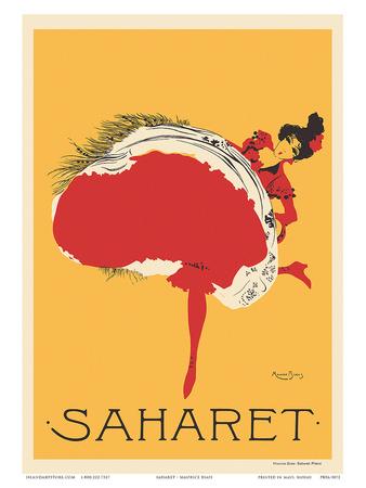 Saharet - Dance Performance Advertisement, c.1902 Posters by Maurice Biais